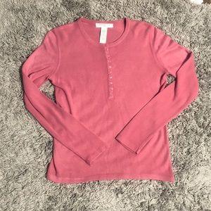 Josephine Chaus long sleeve shirt. Size M. Women's